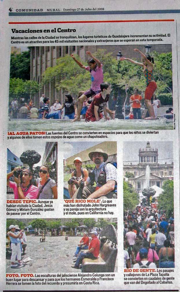 Guadalajara MURAL article about tourists in Guadalajara.