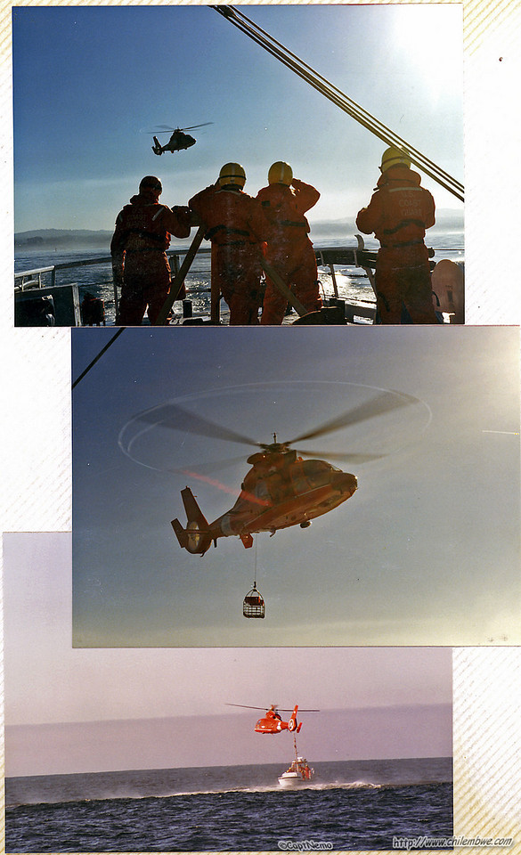 USCG helicopter recue training